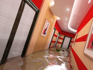 flooding in the interiors