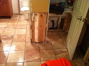 Water Damage Longview From Bathroom Flood