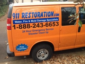 Water damage Longview equipped truck