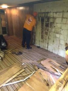 Water Damage Boring Restoration Moldy Wall Repair